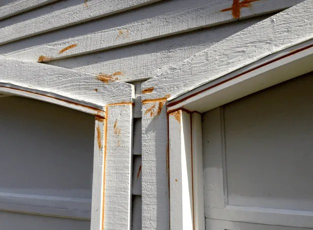 caulking garage door trim