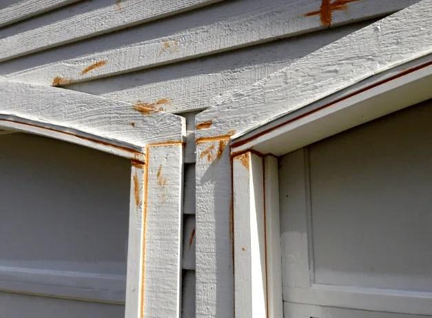 caulking garage door trim