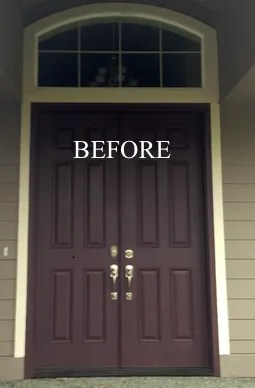 front door before painting