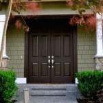 burgundy front door