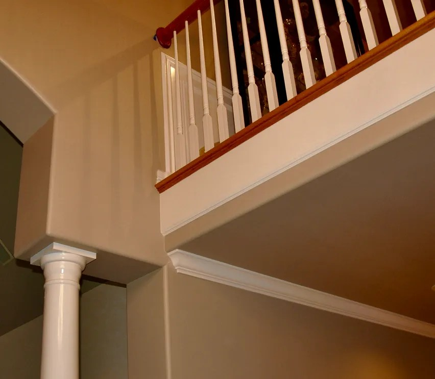 painting railings inside