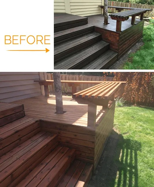 deck staining woodinville