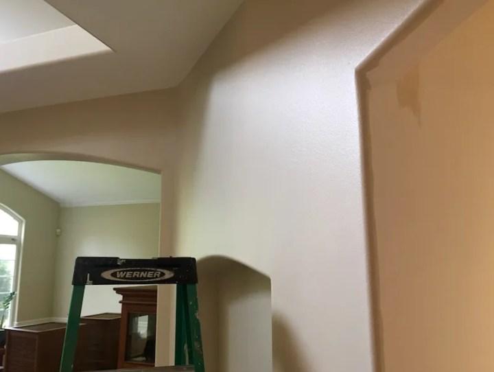 satin paint sheen wall