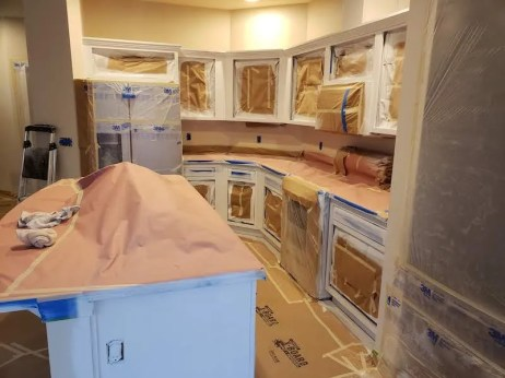 painting body of cabinets