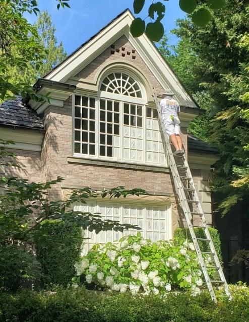 masking windows painting