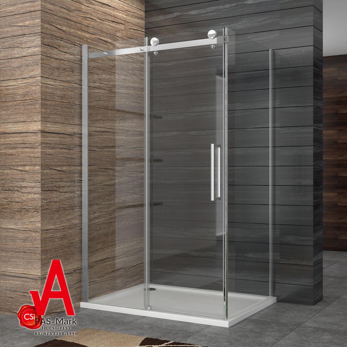 Details About Shower Screen Bottom Seal Frameless Sliding Door120 195cm Side Panel 80 90cm