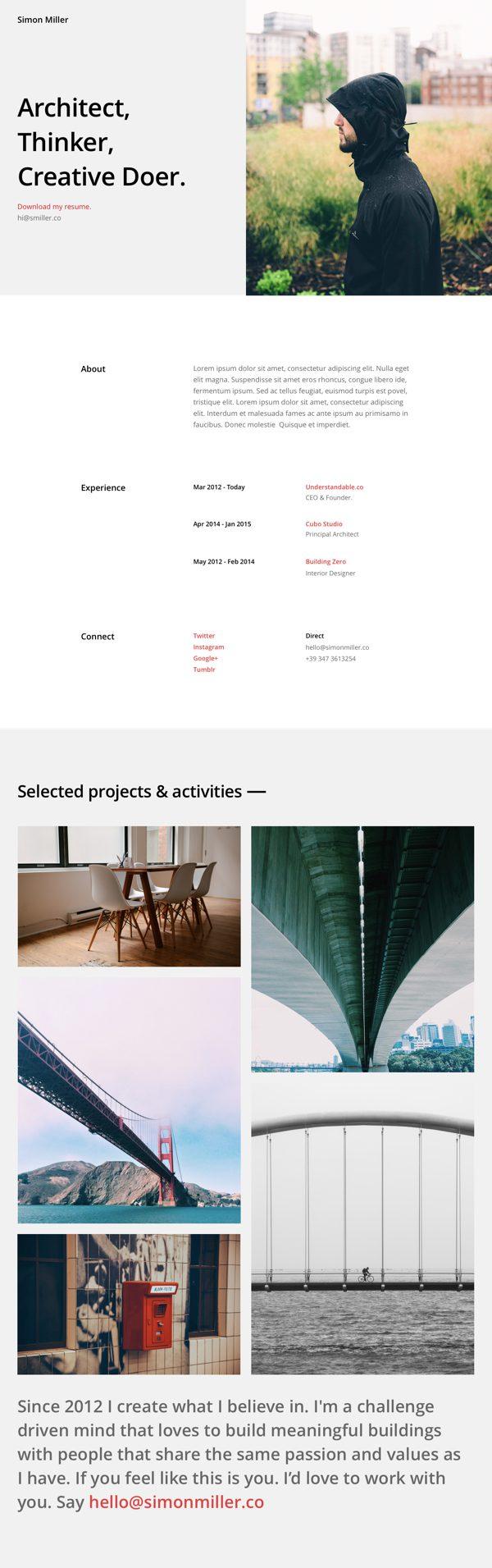 Free Divi Download Resume Pages Layout Pack  Elegant