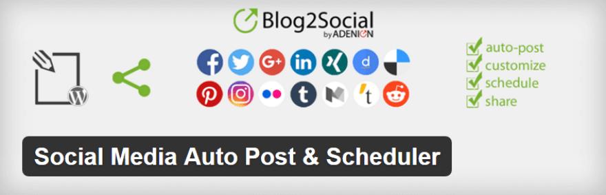 The Blog2Social plugin.