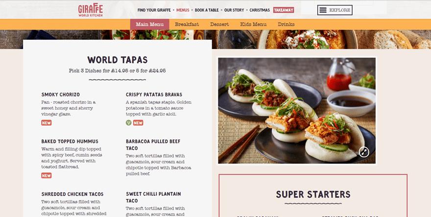 12 Tasty Examples of Restaurant Menu Design on the Web   Elegant ...