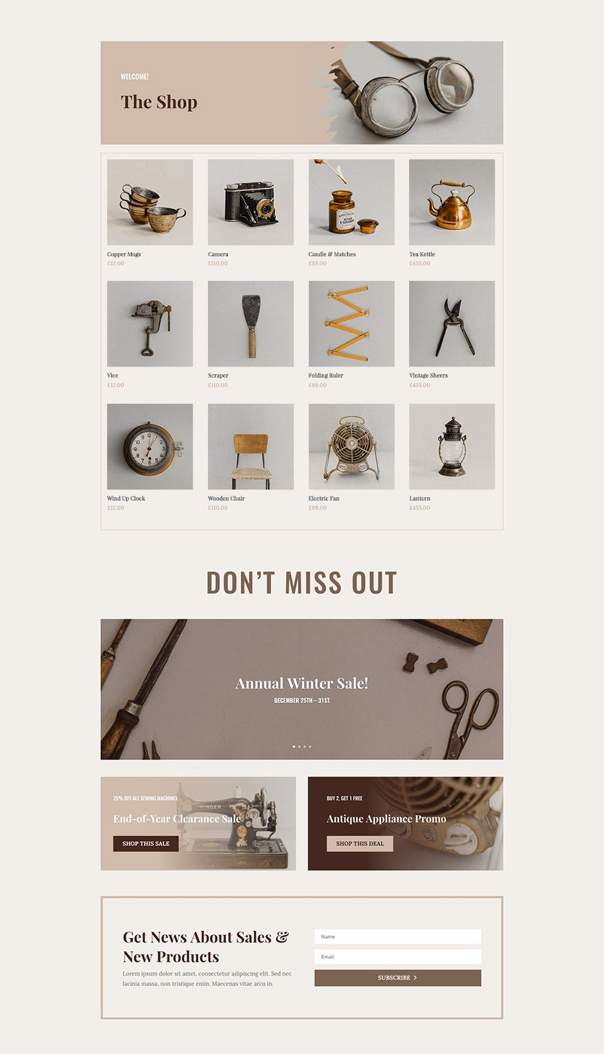 Online Store Layout Pack Shop Page