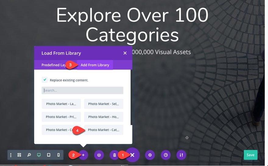 add category layout