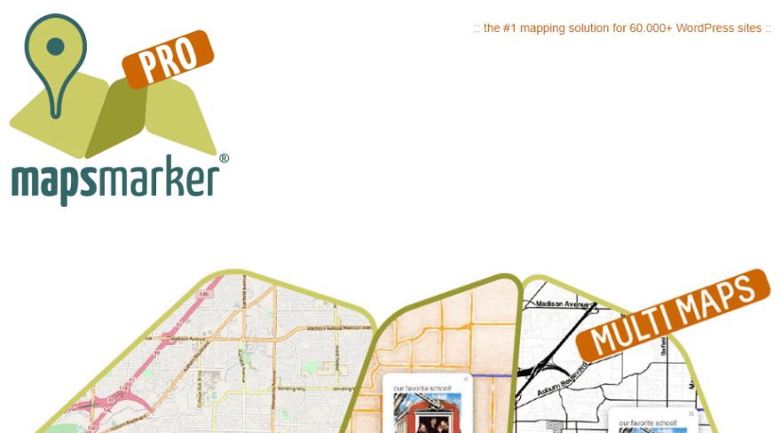 The Maps Marker Pro homepage.