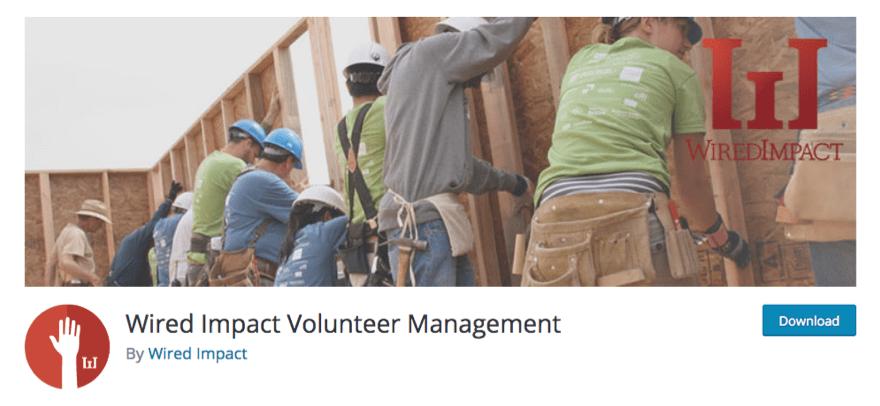 wired impact volunteer management on wordpress plugin repository