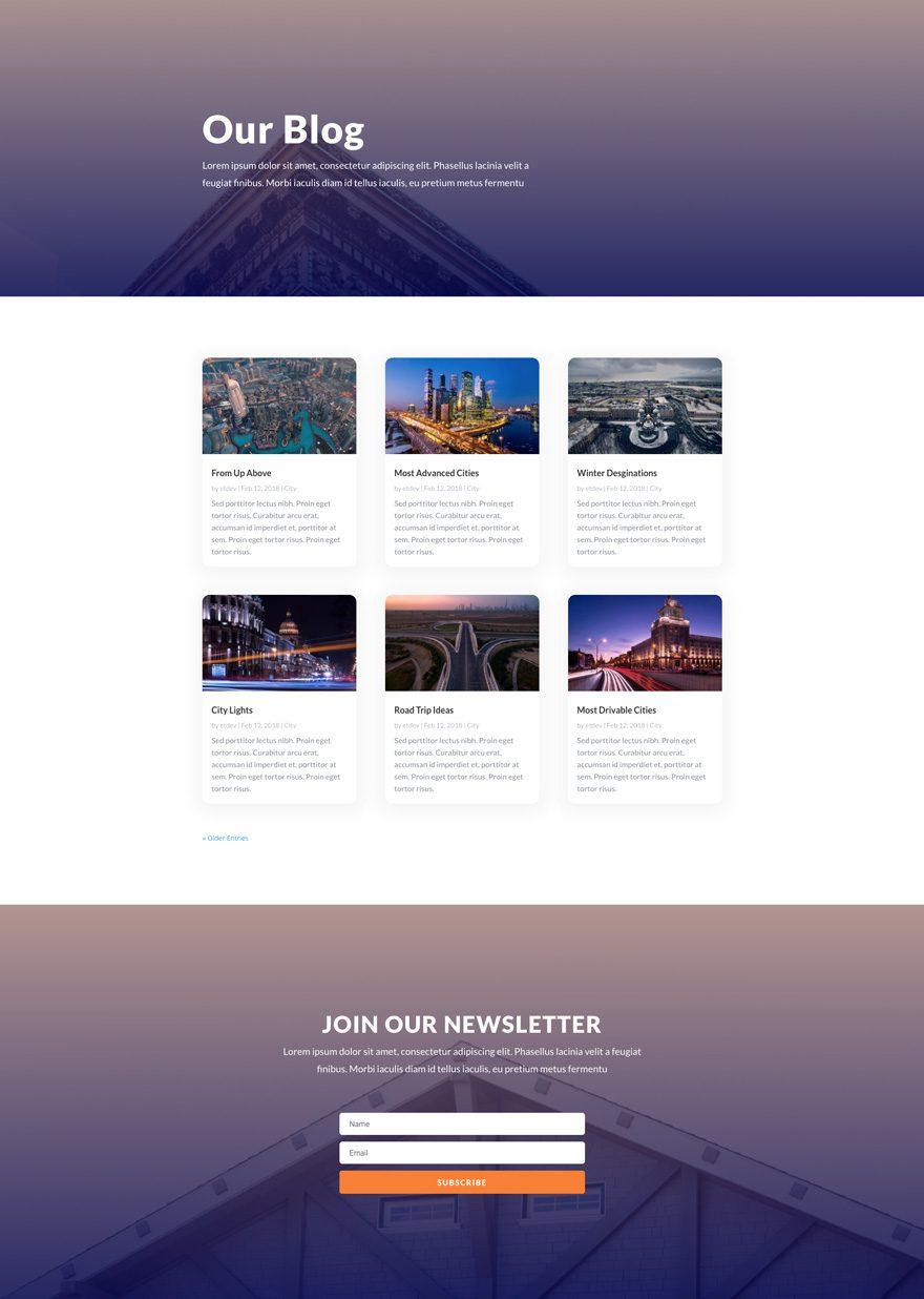 real estate blog page