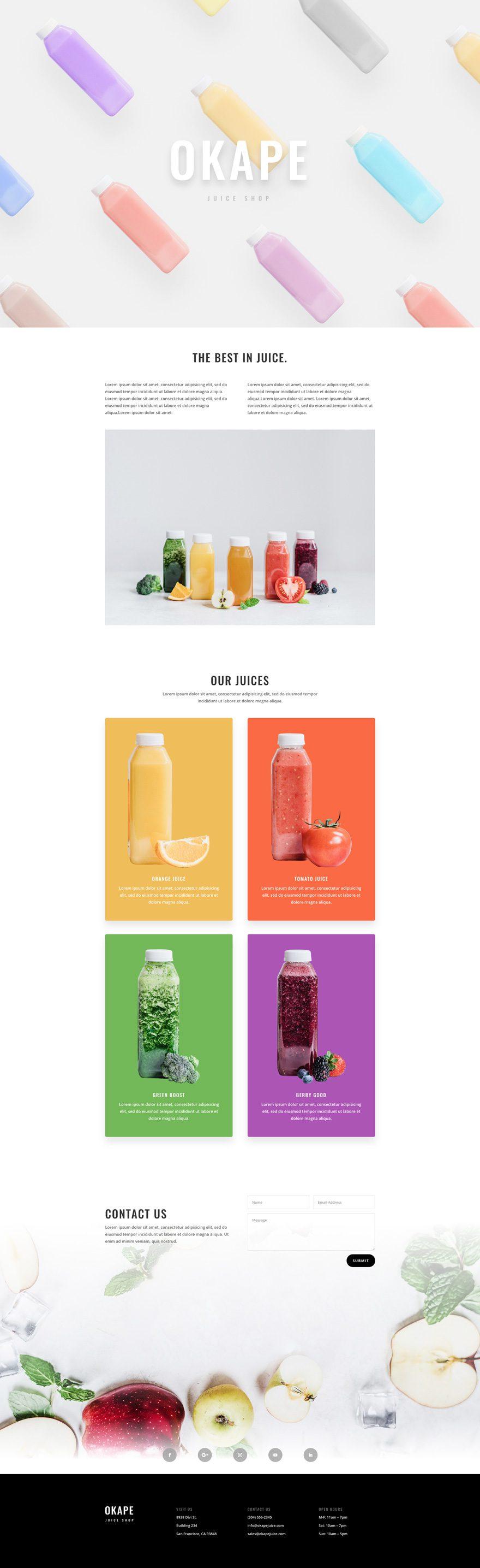 juice shop home