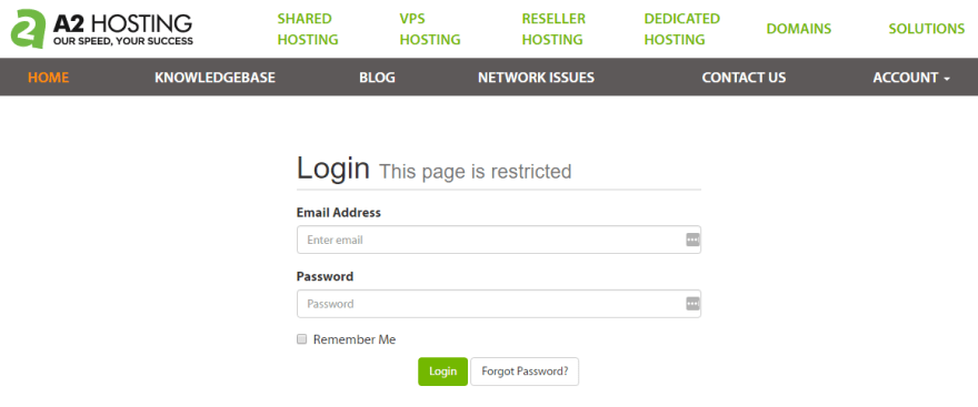 Logging into your hosting account's panel.