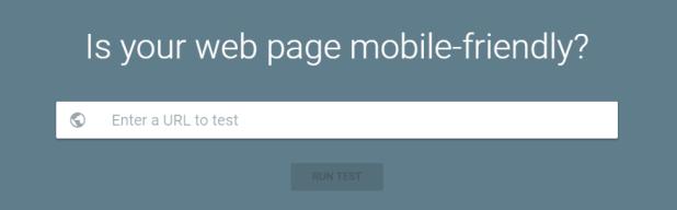 Google's mobile-friendliness test.