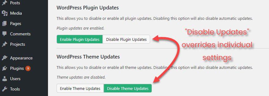 Manage WordPress Updates