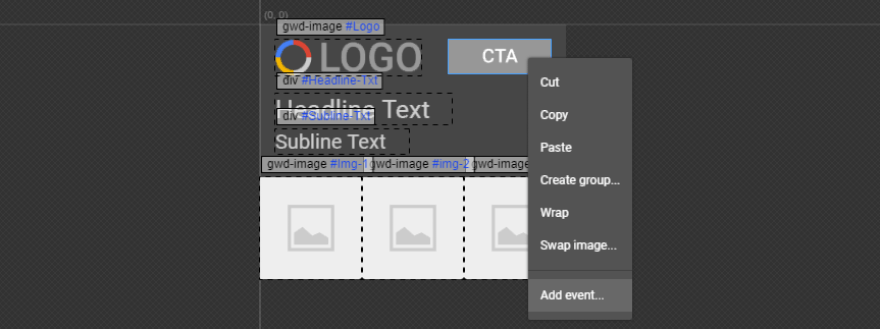 Adding an event to one of your elements.