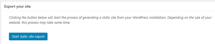 Starting to export your static website.