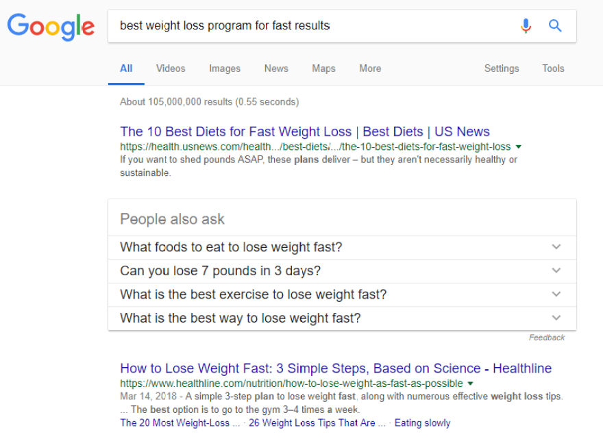 Looking for fast weight loss methods.