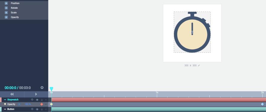 Setting a 100% opacity animator.