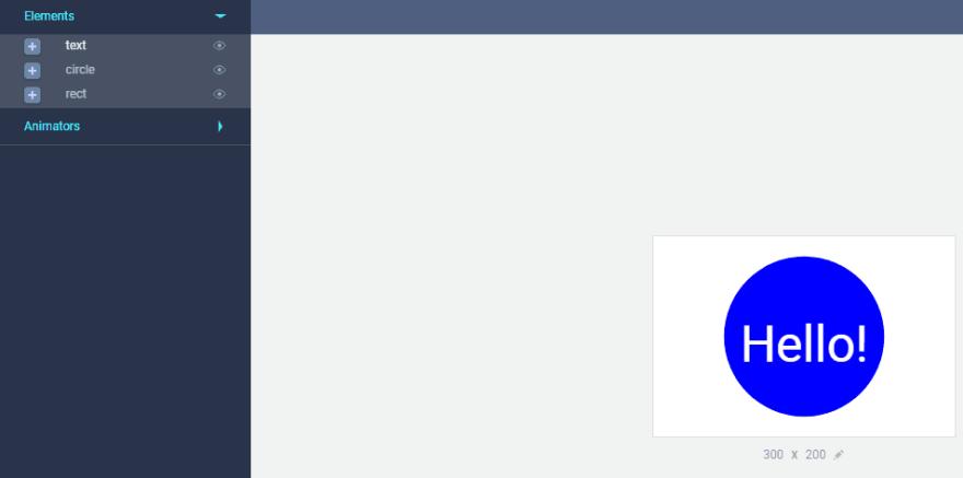 The SVGator Elements tab.