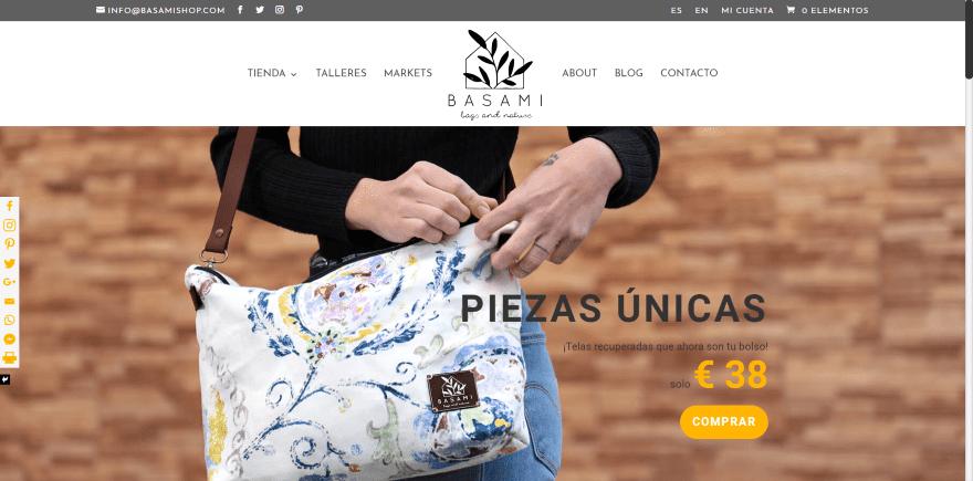Basami-Shop 20 Examples of Divi eCommerce Websites