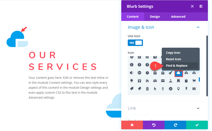blu21 How to Style Blurb Icons as Design Accents for Content in Divi