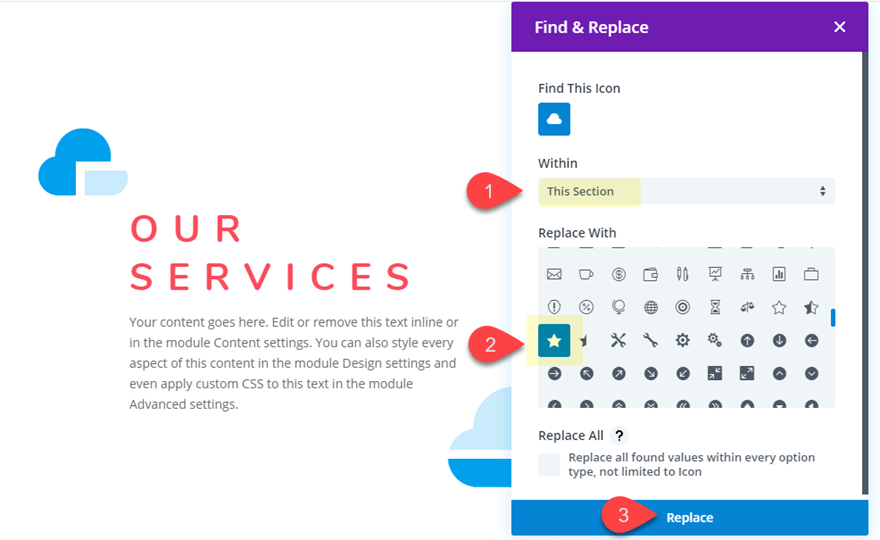 blu22 How to Style Blurb Icons as Design Accents for Content in Divi