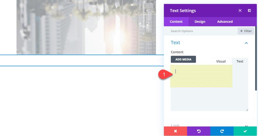 Divi Reflections untuk teks dan gambar