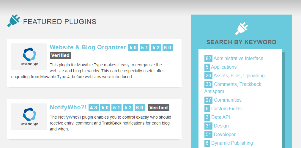 The Movable Type Plugin Directory