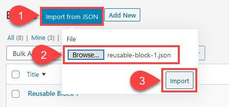 Blocs réutilisables WordPress