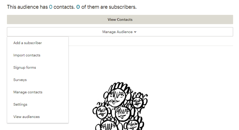 Managing an email audience.