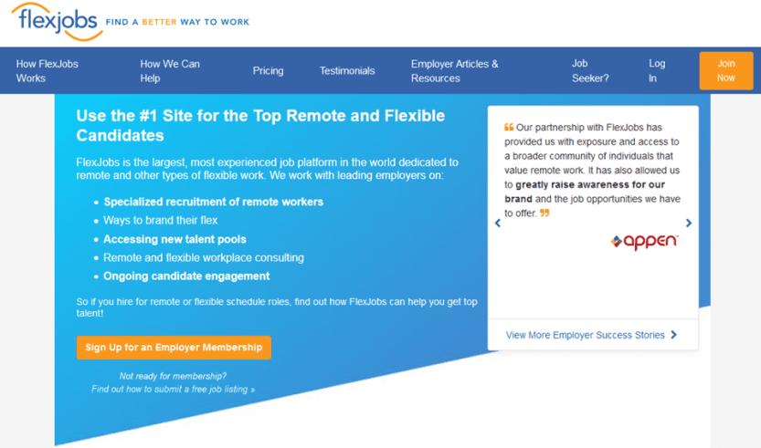 use flexjobs to find a good wordpress developer