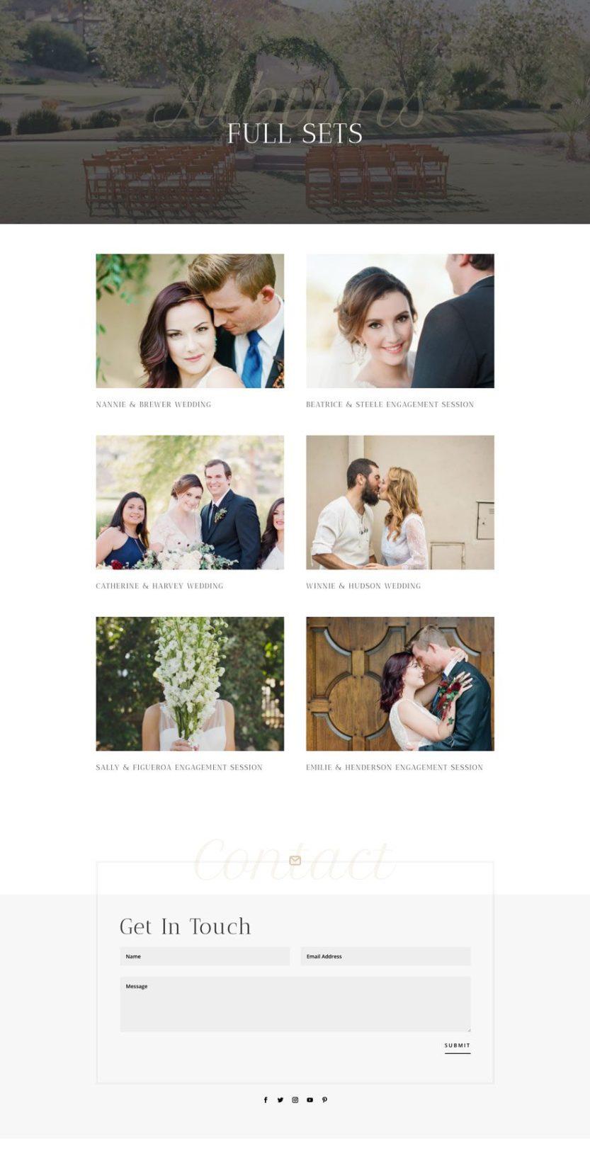 wedding photographer website