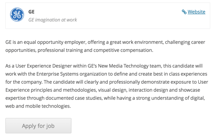 Applying for a job listed with WP Job Manager.