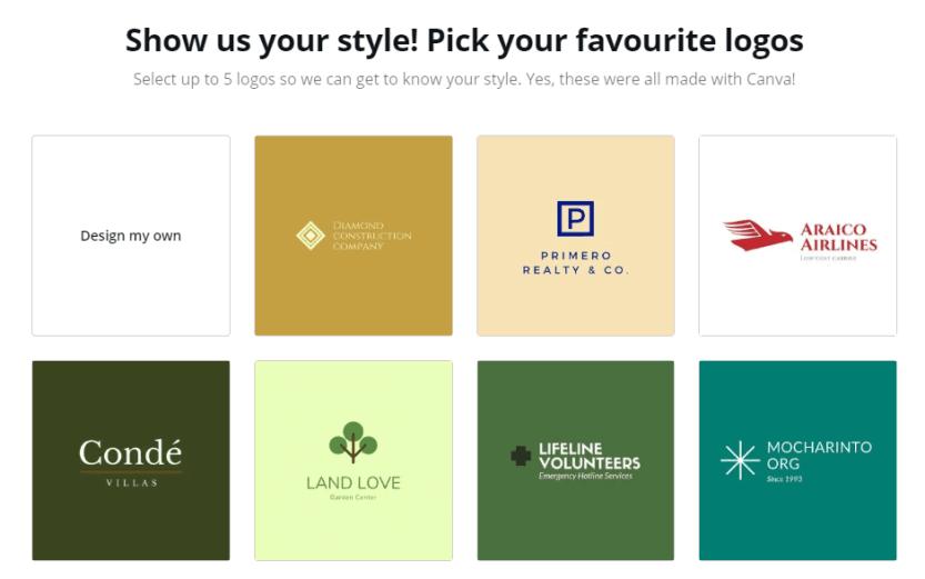Choosing your favorite designs.