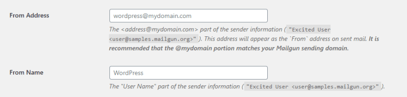 Configuring your email sender settings.