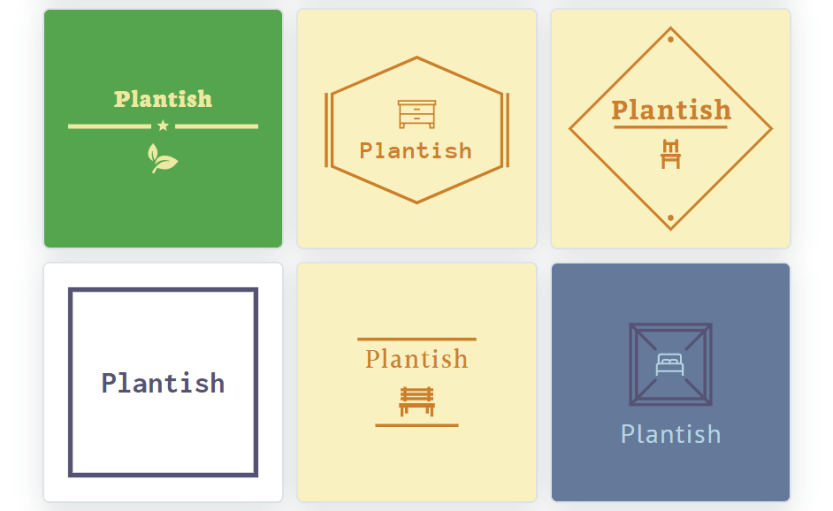 Examples of Hatchful logos.