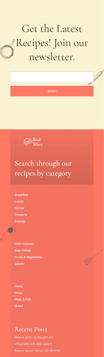 post category menu widgets