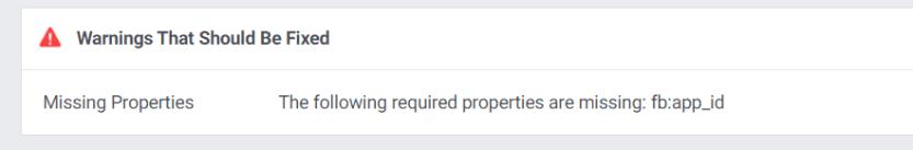 An example of a Facebook Debugger error.
