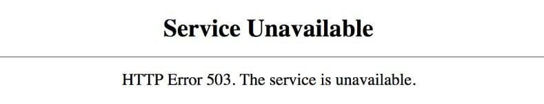http error codes 503