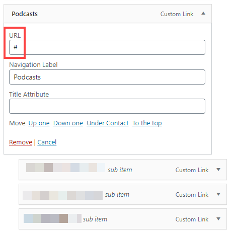 placeholder url with a hashtag