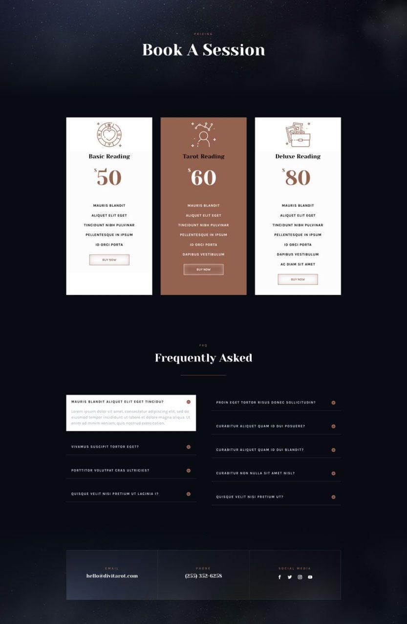 tarot website