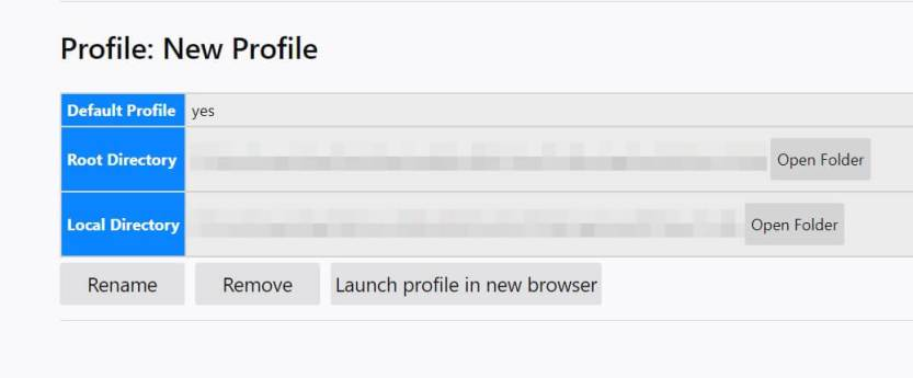 A new profile in Firefox.