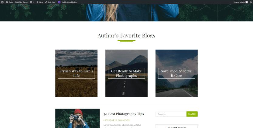 Author's Favorite Blogs