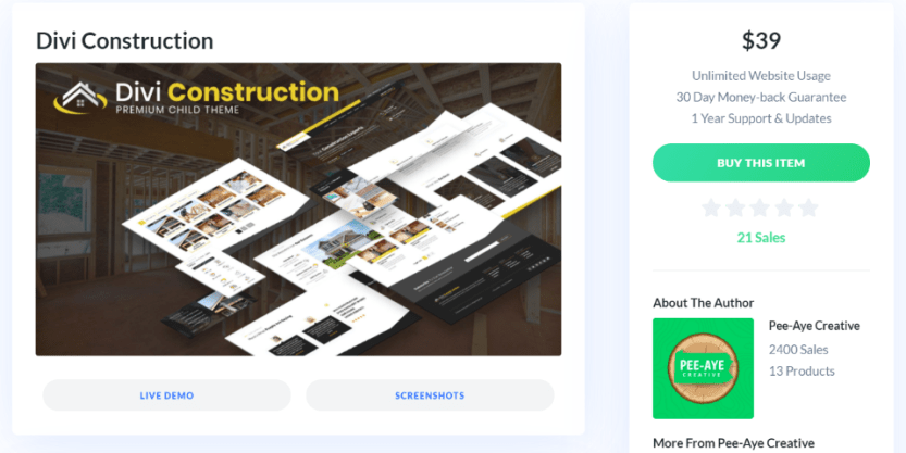 Where to Purchase Divi Construction