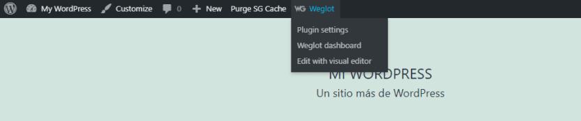 Accessing Weglot's visual editor