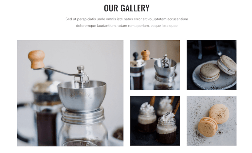 The Divi Coffee Shop layout pack.